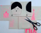 SALE pink doll DIY kit