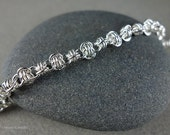 Spiral Barrel Weave Chainmaille Bracelet - Sterling Silver Chainmail - Ready to Ship Maille - 10% loaned through Kiva.org