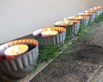 Upcycled Jello Mold Tea Light Candle Holder