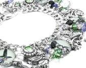 Witch, Wizard of OZ, Wicked Witch, Charm Bracelet, Halloween Witch, Witches Charms, Halloween Jewelry