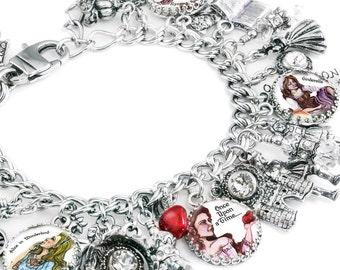 Once Upon a Time Charm Bracelet, Fairytale Jewelry