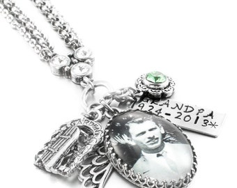 Memory Necklace, Personalized Photo Necklace, Custom Photo Jewelry, Custom Keepsake Jewelry