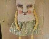 weird monster doll, sandy mastroni,monster Mary Elaine art doll, original doll, whimsical doll art