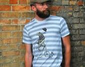 Frog T-shirt - Men's Bike T-shirt - Animal on Bicycle Tee - Penny Farthing - Animal Lover - Brother Gift - Frog Shirt
