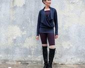 Vagabond Snap Collar Shirt ( light hemp and organic cotton knit ) - organic hemp dress
