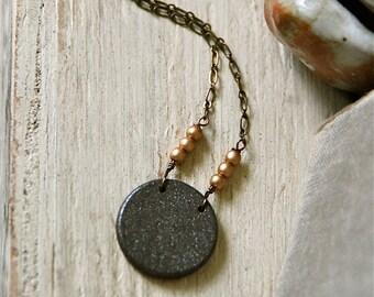 Modern wooden circle necklace/minimalist neklace/simple necklace/statement necklace/boho jewelry. Tiedupmemories