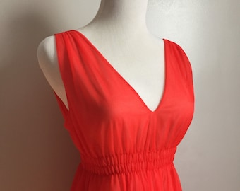 Joan - Glamorous Vintage Red Nightgown by Frederick's of Hollywood.