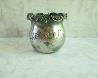 "Vintage Reliance Quadruple Silverplate ""Take Your Pick"" Toothpick Holder"
