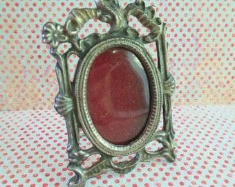 Little Vintage Cast Metal Picture Frame
