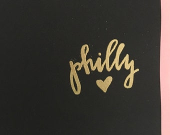 Hand Lettered Gold Notebook