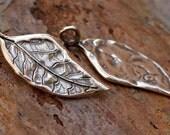 Artisan Sterling Silver Leaf Charm, AD457