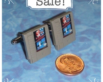 SALE! CUFFLINKS Nintendo Game Cartridge  - Choose any 2 games you want for your set