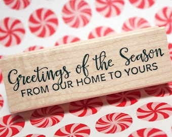 Greeting of the Season Rubber Stamp