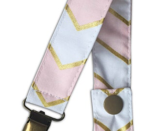 Pacifier Clip in Chic Chevron