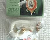 Vintage Christmas Craft Kit - Makes a Beaded Panoramic Egg Ornament with Tree Inside - from 1973 - unopened and ready to make today