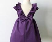 Eggplant Purple Dress, Toddler & Girl, Holiday, Flower Girl