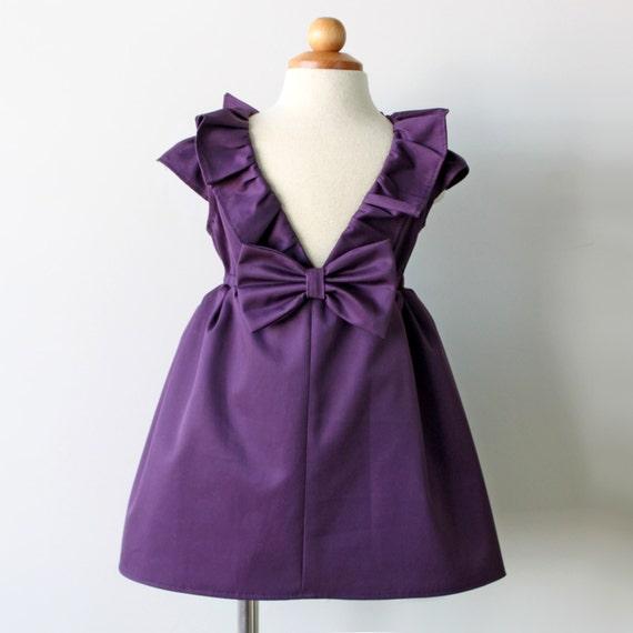 Eggplant Purple Dress Flower Girl Dress Toddler flower girl
