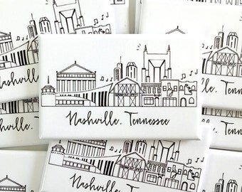 Nashville, Tennessee Skyline Magnet