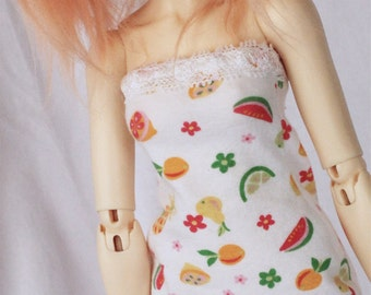 Minifee Doll  dress Fruit print body con dress MonstroDesigns Ready to Ship