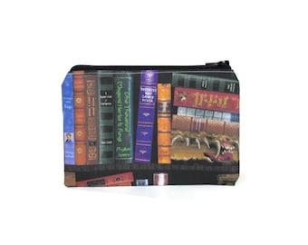CHOOSE SIZE Restricted Section Pouch / Hogwarts Library Camera Bag / Harry Potter Hermione Gryffindor Make Up Bag