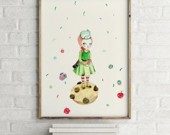 Girls room decor, nursery decor, nursery girl decor, girl nursery art, girls wall decor, wall art for girls, prints for girls room