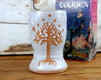 Tree of Life Pint Glass or Tumbler in Shale - Made to Order