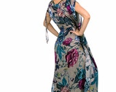 Tropical Coverup, Floral Kaftan Dress, Boho Dress, Summer Dress, Womens Caftan Dress, Plus Size Dress, Plus Size Clothing, Beach Dress