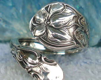 Flower Gorham Vintage Sterling Silver Spoon Ring dmfsparkles