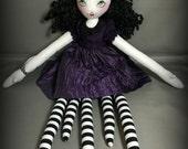 Lavinia Manylegs, Gothic Art Cloth Rag Doll