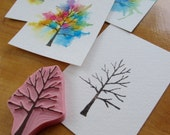 Tree (With Endless Possibilities) - Hand Carved Rubber Stamp