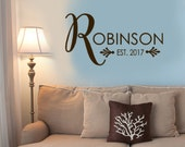 Family Name Wall Decal, Family Vinyl Decal, Monogram Decal, Custom Name Wall Decal, Personalized Wedding Monogram, Famiy gifts, Name Sticker