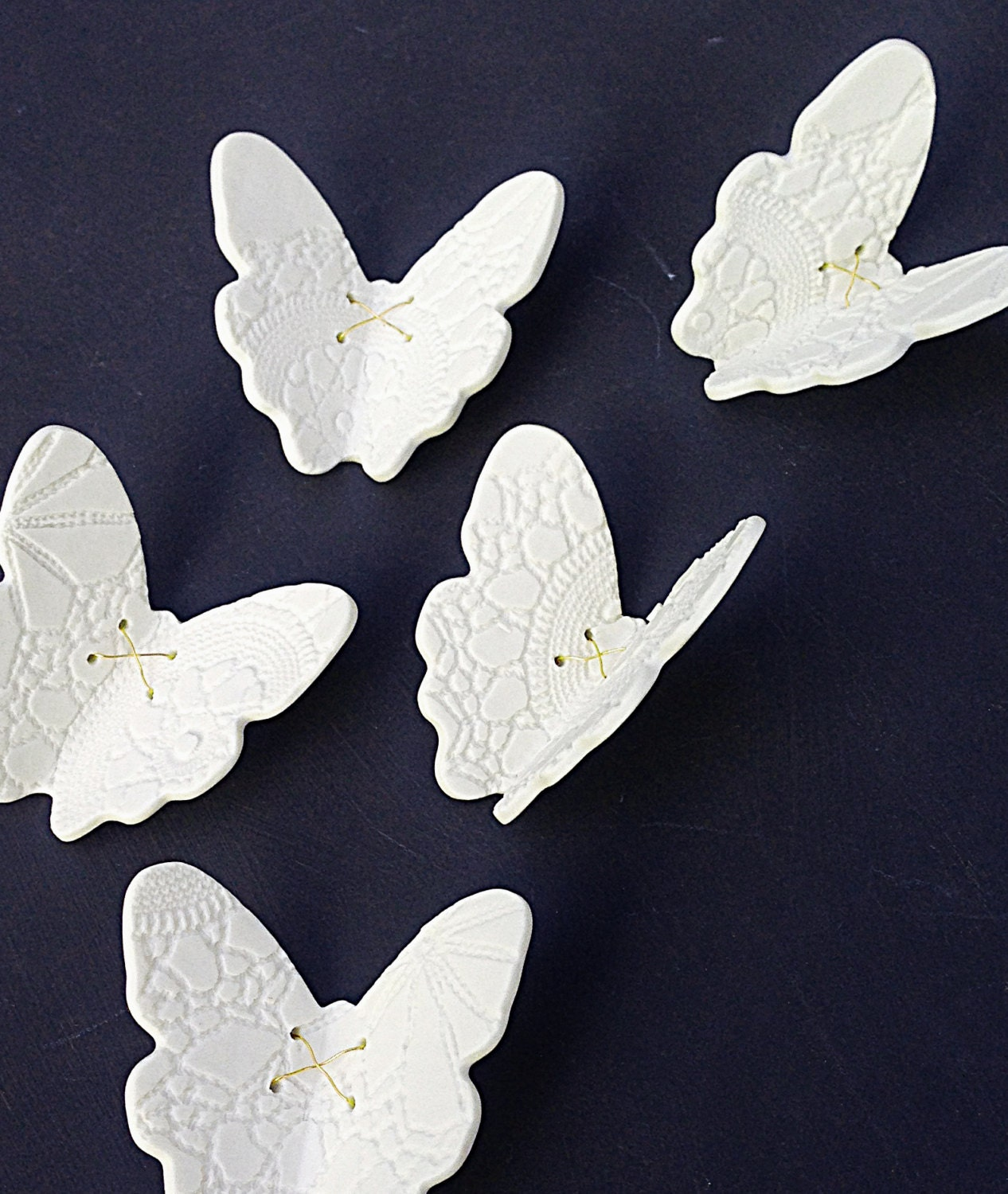 White Butterfly Wall Decor Target : Large wall art porcelain d butterflies white butterfly