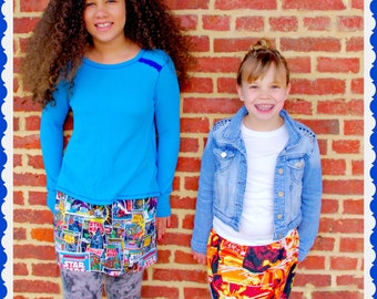 Girls star wars skirt star wars clothing 12m 18m 2t 3t 4t 5t 6X 7 8 9 10 12 14 16 ready to ship