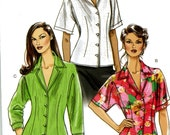 Vogue V8248 Easy Shirt Blouse with Dolman Sleeves Size 6 8 10 12 Uncut Sewing Pattern 2006