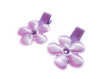 Light Purple Flower Hair Clips Purple Hair Clips Purple Barrettes Baby Girl Hair Clips Lavender Baby Hair Clips Baby Clips Baby Barrettes