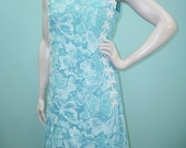 "Vintage 60s The Lilly Dress . Lilly Pulitzer Blue Butterfly Print Shift Dress . Novelty Print . L XL 42"" Bust 39"" Waist"