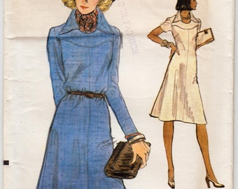 "Vintage Sewing Pattern 1970's Ladies' Dress Vogue 9059 36"" Bust - With FREE Pattern Grading E-book"