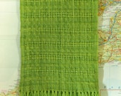 spring fever: handwoven wool scarf
