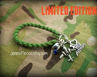 LIMITED Edition AIR FORCE  boot band blouser bracelet your choice SSG133 usaf military mom wife fiance girlfriend grand parent love air man