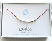 Best Friend Gift • Bestie In Morse Code Necklace • Secret Message • BFF Necklace On Silk Cord • Friend Gift • Dots and Dashes