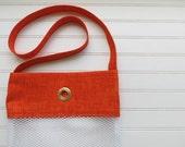 Yarn Bag - Orange Hatches...