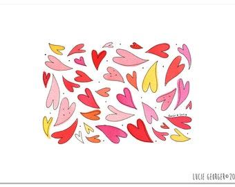 Coeurs, art print