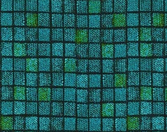 Textured Tiles Turquoise Michael Miller Fabric 1 yard