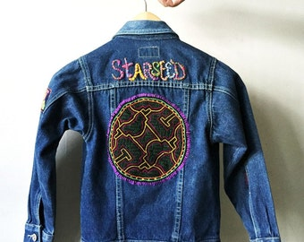 STARSEED Embroidered Kids Vintage Denim Jacket