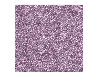 Miyuki Seed Beads 15/0 15-1884 Violet Purple Gold Luster 8.2g, Round Seed Beads, Glass Seed Beads, Japanese Size 15 Seed Beads