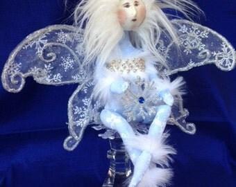 Cloth Doll Mailed Pattern Beautiful Winter Wonderland Fairy