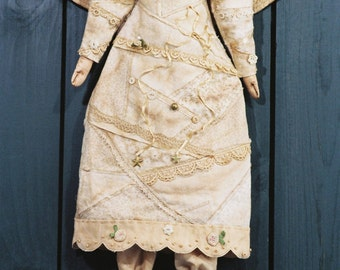 Cloth Doll E-Pattern - Victorian Christmas Angel