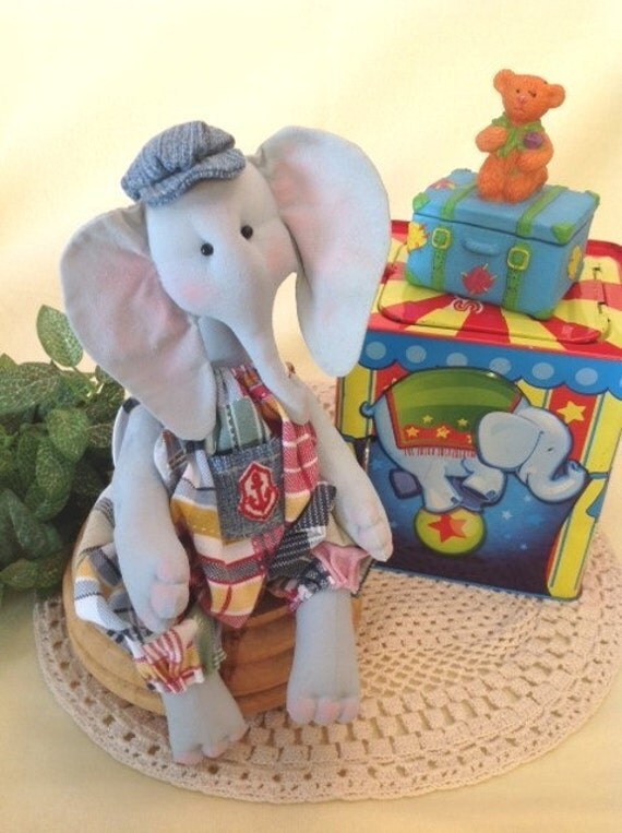 Cloth Doll E-Pattern A cute little Baby Elephant sewing design