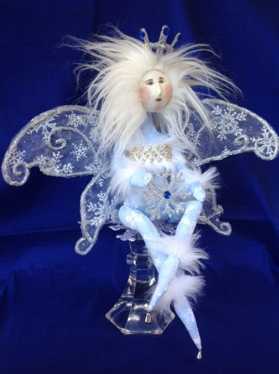 Cloth Doll Mailed Pattern Beautiful Winter Wonderland Fairy