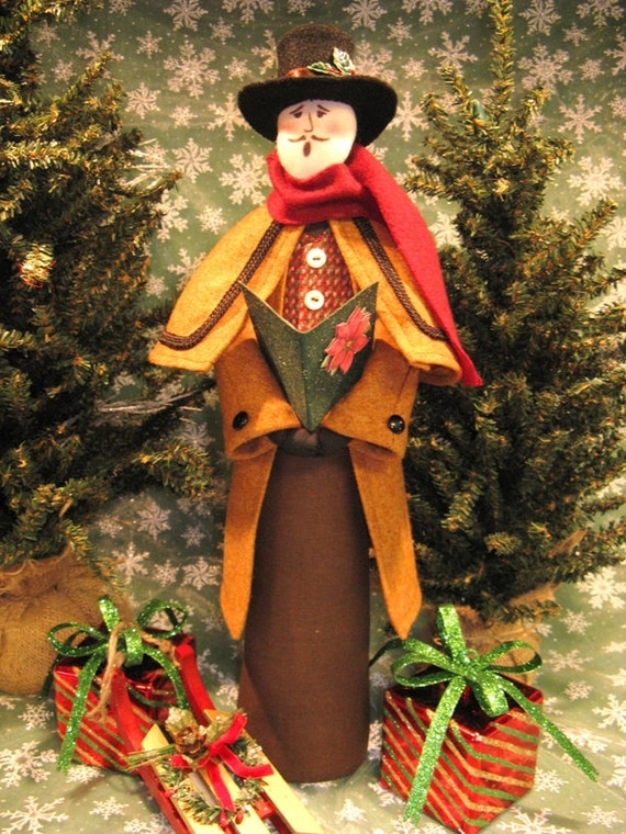 Mailed Cloth Doll Pattern Victorian Christmas Male Caroler